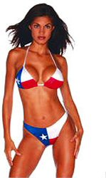 Lined Bikini for Texas Hotties who want to show the colors of the ...